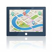 Gps navigation system plus 5 bonus map symbols and 5 different colorful map pins included.