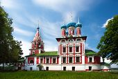 picture of uglich  - Temple of Tsarevich Dmitry on the Blood of Uglich city day lighting positive key - JPG