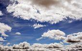 Dark Blue Sky, Dramatic Clouds