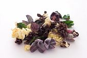 Purple and pale yellow potpourri
