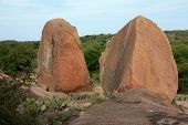 Close-up Of Boulders At Enchanted Rock Park