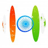 creative indian flag design art