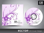 CD-Cover mit floralen Motiven für Ihr Unternehmen.