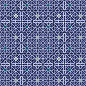Mourisco estrela padrão sem costura de fundo