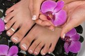 pic of pedicure  - Spa treatment with pedicure aromatherapy and healing stones - JPG