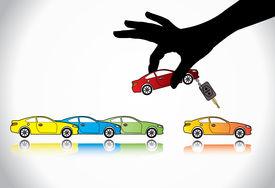 stock photo of designated driver  - Car Sale or Car Key Concept Illustration  - JPG