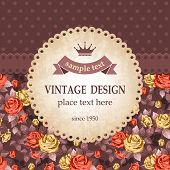 Vintage background with beautiful roses.