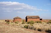 Lonely clay house in Bolivian Altiplano