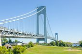 Verrazano-Narrows Bridge, NYC - view from Staten Island