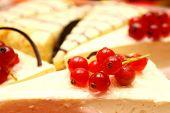 Dessert - Cheesecake with fresh Berries close-up