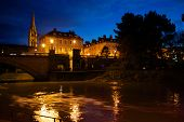 foto of avon  - A long exposure of the River Avon in Bath, Somerset at night.