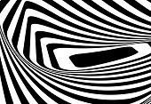 Abstract background with optical illusion effect. Vector