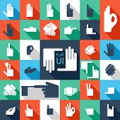 31 hands icon. Flat design.