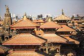 KATHMANDU, NEPAL - DEC 5, 2013: View of the Patan Durbar Square, Dec 5, 2013 in Kathmandu, Nepal. It is one of the 3 royal cities in the Kathmandu, a very popular spot for tourists.