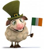 pic of irish flag  - Irish sheep - JPG
