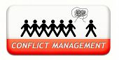conflict management in business at work or between couple with different interest solve the problem