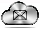 cloud email icon cloud computing electronic incoming and outgoing mail button mailbox