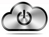 login cloud computing icon or button for private hybrid or community cloud