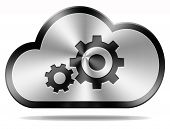 cloud computing technology maintenance and provider hosting software service icon or button performa