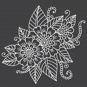 Vector flower ornament.