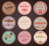 stock photo of xoxo  - Set of vintage Valentine - JPG