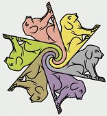 Seamless dog background/tessellation