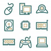 Computer web icons, two color series