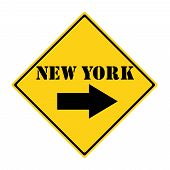New York That Way Sign