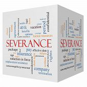 Severance 3D Cube Word Cloud Concept