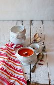 Delicate Tomato Soup In The Bowl