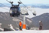 Modern Ropeway Funitel At Hill Chopok - Low Tatras, Slovakia