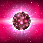 Abstract Sphere of Electronic Circuitry