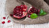 Burlap Sack With Pomegranate