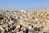 pic of jabal  - A view of the skyline of the Jordanian capital city - JPG