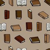 Cartoon Books Seamless Background
