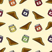 Toast and Jelly Seamless Background