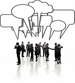 Social Network Communication Business People Team Talk