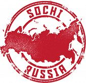 Sochi Russia Rubber Stamp for Travel