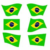 Brazil Flag Color Vector Illustration
