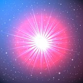 Explosion of a Star in Space