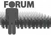 Admin Of Internet Forum And People Post Read