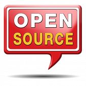 open source software program or economy freeware internet data computer sharing