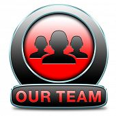 pic of team  - Team button or work or business our team banner about us sign icon or button - JPG