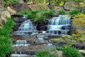 Waterfall In A Japanese Zen Garden