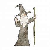 cartoon old wizard