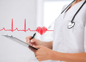 stock photo of ekg  - healthcare and medical concept  - JPG