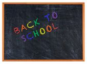 Back To School Colorful Letters