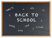 Back To School On A Blackboard