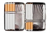Cigarette Case Wit Some Cigarettes