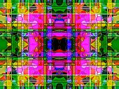 Geometric Abstract Multicolored  Ornament Backgroun .  A-0166.